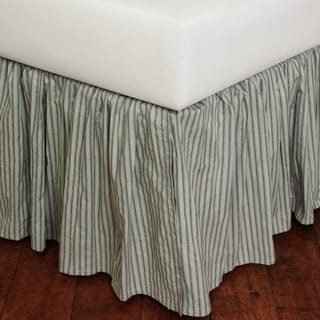 Sky Blue Stripe Bed Skirt