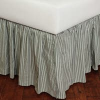 Sky Blue Stripe 18-inch Drop Bed Skirt