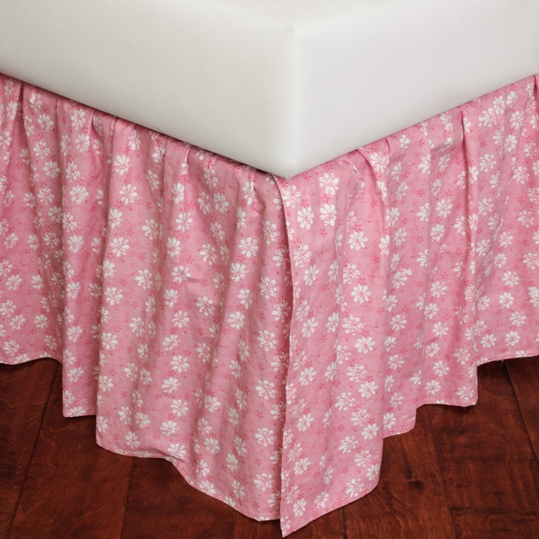 Angela Floral 18-inch Drop Bed Skirt