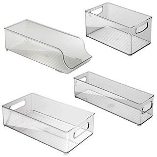 INTERDESIGN Binz Fridge & Freezer Food/Drinks Storage Box/Trays/Holder 4 Pc Set