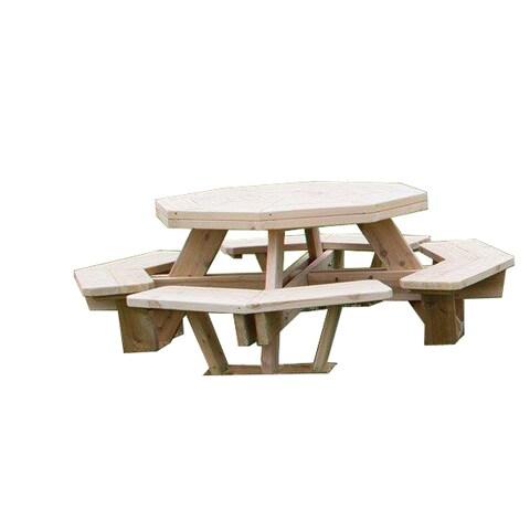 White Cedar Octagon Picnic Table -Medium Size
