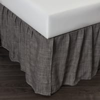 Lucas Charcoal 18-inch Drop Bed Skirt