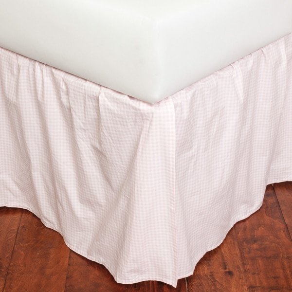 Shop Pink Gingham Full 18 Inch Drop Bed Skirt Free Shipping Today Overstock 15008534