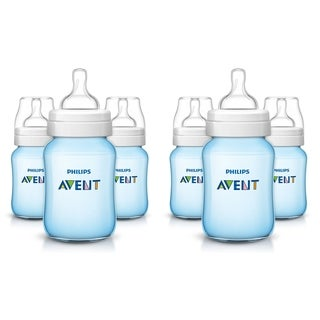 Philips Avent Anti-Colic Blue 9-ounce Baby Bottle (6 Pack)