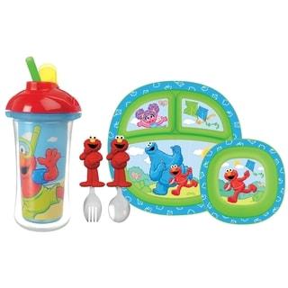 Munchkin Sesame Street Blue/Red Complete Toddler Dining Set