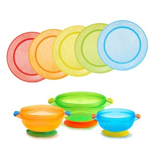 Munchkin Multi Plates and Stay-Put Suction Bowl Set