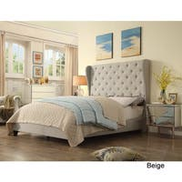 Moser Bay Furniture Ophelia Wingback Upholstered Bed, Queen Size
