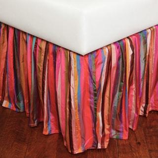 Raspberry Stripe Bed Skirt