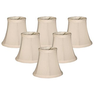 Royal Designs White Fabric Clip On Chandelier Lamp Shades (Set of 6)