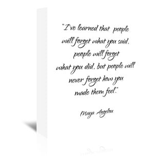 Pop Monica 'Maya Angelou' Gallery-wrapped Canvas Wall Art