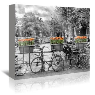 Americanflat 'Typical Amsterdam' Panoramic Canvas Art Print