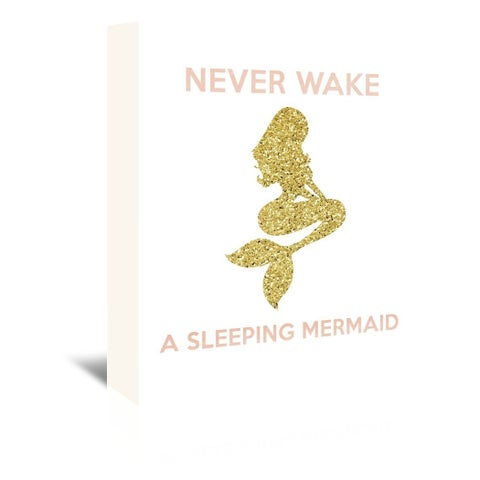Americanflat 'Never Wake a Sleeping Mermaid' Wrapped Canvas Wall Art