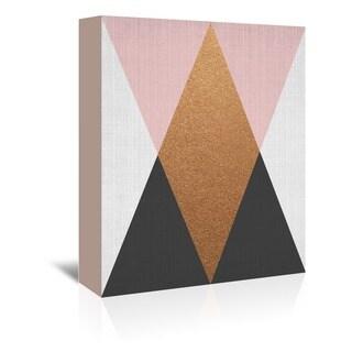 Americanflat Geometric Pink Bronze Wall Art