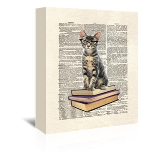 Matt Dinniman 'Book Cat' Gallery-wrapped Canvas Wall Art