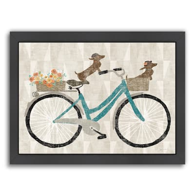Doxie Ride Ver I - Framed Print Wall Art