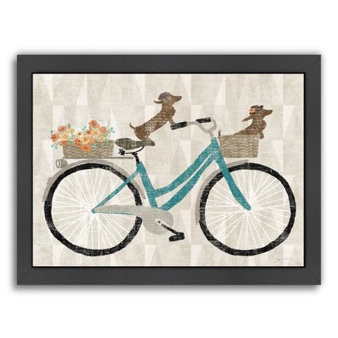 'Doxie Ride Ver I' Framed Print