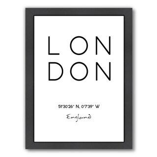 Americanflat 'London' Framed Wall Art