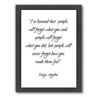 Americanflat Maya Angelou Inspirational Wood Framed Print
