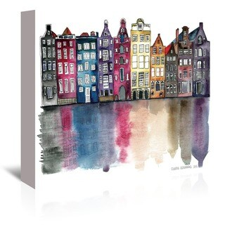 Americanflat 'Amsterdam' Gallery Wrapped Canvas - multi