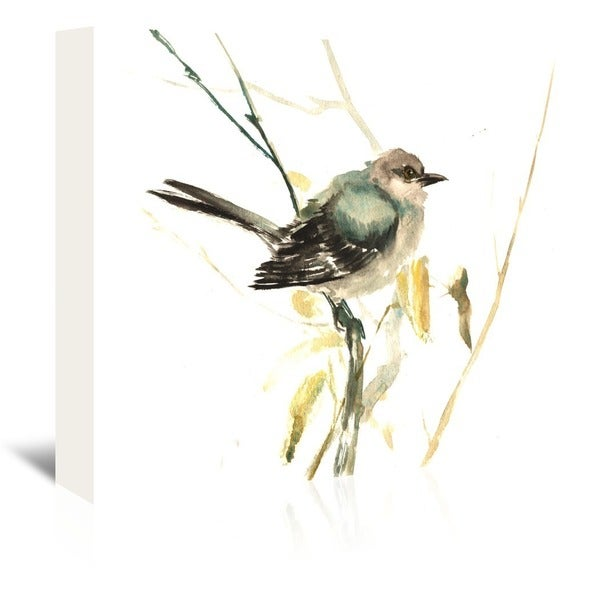 Americanflat 'Mockingbird' Gallery Wrapped Canvas - White