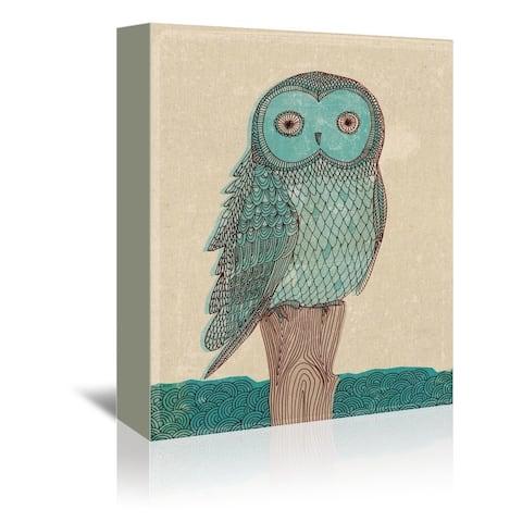Americanflat 'Blue Owl' Wall Art