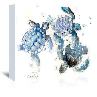 Americanflat 'Sea Turtles' Wall Art|https://ak1.ostkcdn.com/images/products/15008644/P21506855.jpg?impolicy=medium
