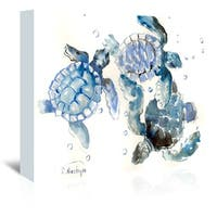 Americanflat 'Sea Turtles' Gallery Wrapped Canvas - multi