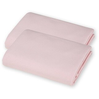 American Baby Company Pink Value Jersey Knit Porta-Crib Sheet (2 Pack)