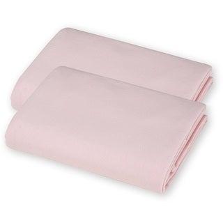 American Baby Company Pink Value Jersey Knit Porta-Crib Sheet (2 Pack)