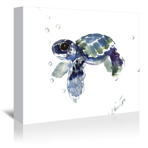 Americanflat 'Babe Sea Turtle' Gallery Wrapped Canvas Art