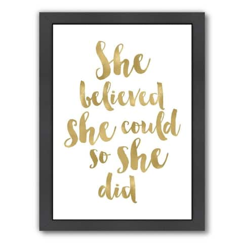 Amy Brinkman Design 'She-Believed-She-Could' Giclee Print