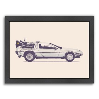 Americanflat 'Delorean - Back To The Future' Framed Wall Art