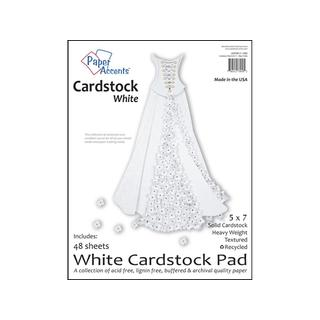 Cardstock Pad 5x7 48pc White