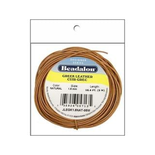 Beadalon Greek Leather Cord Pkg 1.5mm 5M Natural