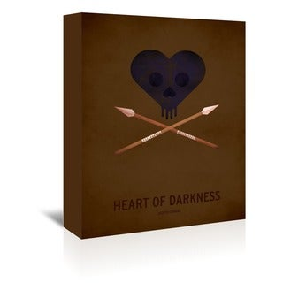 American Flat 'Heart of Darkness' Wall Art - Brown