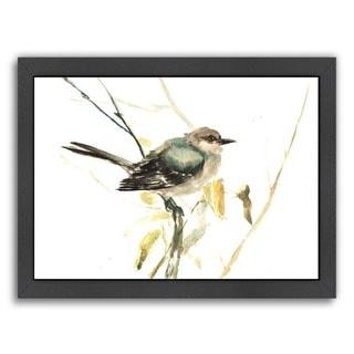 Americanflat 'Mockingbird' Wood Framed Art Print