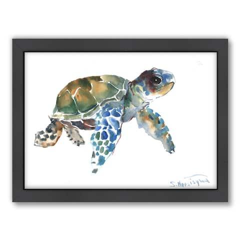 Suren Nersisyan 'Tortoise Blue' Nautical Framed Art Print