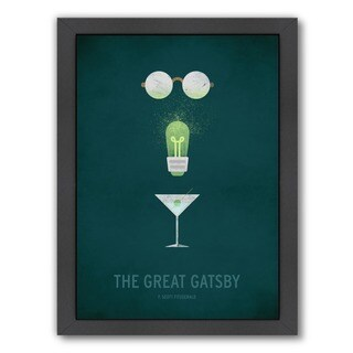Americanflat 'The Great Gatsby' Black Wood Frame Giclee Print Wall Art