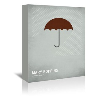 Americanflat 'Mary Poppins' Canvas Wall Art - Grey