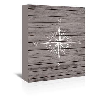 Americanflat 'Wood Quad Compass' Wall Art