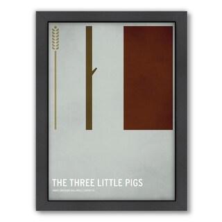 Christian Jackson 'Three Little Pigs' Framed Print