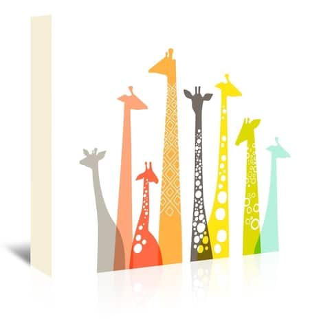 Americanflat 'Giraffes' Gallery-wrapped Canvas Print