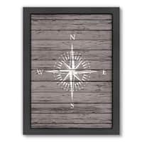 Americanflat Samantha Ranlet Design 'Wood Quad Compass' Framed Wall Art