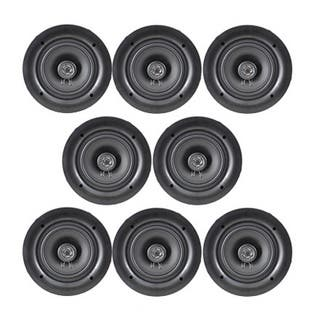 Pyle PDIC56 150 Watt, 2-way, Flush Mount, White 5.25-inch In-wall/ In-ceiling Dual Stereo Speakers (Set of 8)|https://ak1.ostkcdn.com/images/products/15008759/P21506821.jpg?impolicy=medium