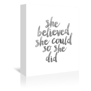 Americanflat 'She Believed She Could So She Did' Canvas Print