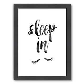 Americanflat Brett Wilson Design 'Sleep In' Framed Wall Art