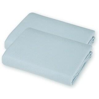 American Baby Company Blue Value Jersey Knit Porta-Crib Sheet (2 Pack)