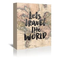 Brett Wilson 'Let's Travel The World' Gallery-wrapped Canvas Wall Art