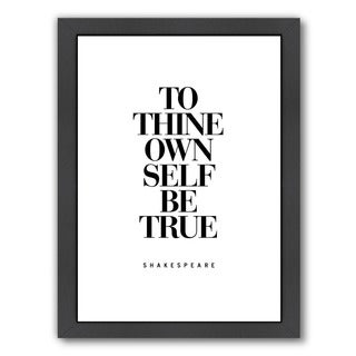 Brett Wilson 'To Thine Own Self Be True' Framed Print