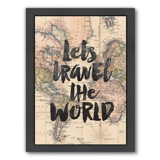 Brett Wilson 'Let's Travel The World' Framed Print